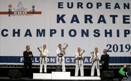 Europos čempionato kata rungtyje lietuviai nuraškė tris medalius