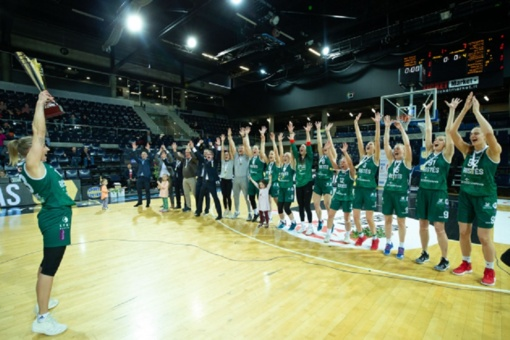 """Moterų krepšinio lygoje triumfavo """"Aisčių-LSMU"""" komanda"""