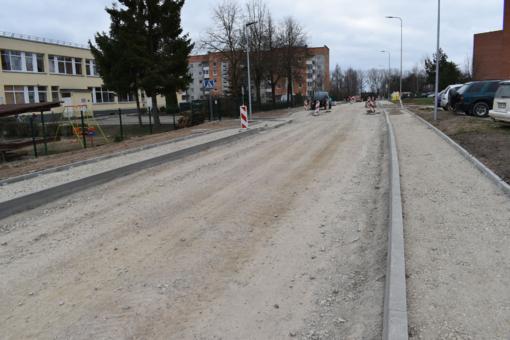 Jaunimo gatvėje bus ribojamas eismas dėl asfaltavimo darbų