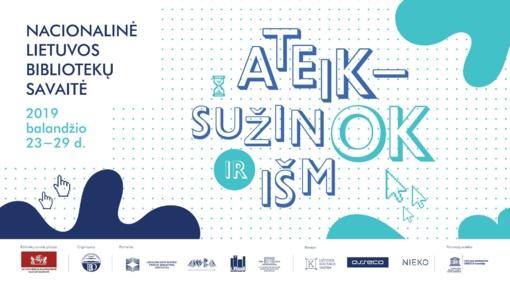 Kviečia dalyvauti 19-os Nacionalinės Lietuvos bibliotekos savaitės renginiuose