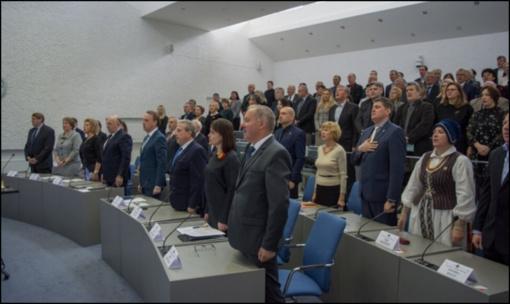 Iškilmingame rajono Savivaldybės tarybos posėdyje