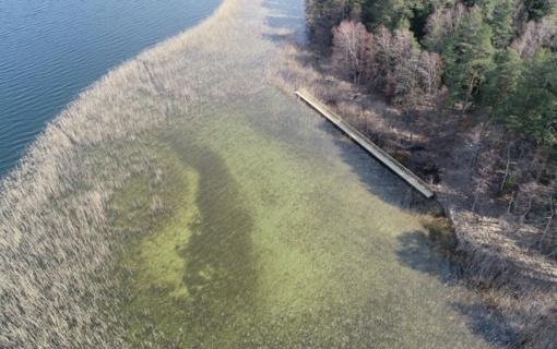 Utenos policija drono pagalba sėkmingai surado pontoninį lieptą