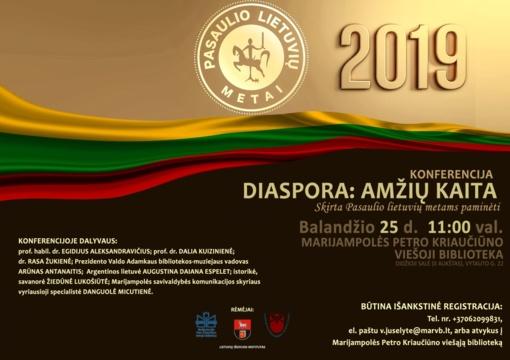 """Konferencija """"Diaspora: amžių kaita"""", skirta Pasaulio lietuvių metams paminėti"""
