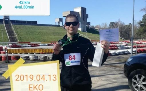 42 kilometrus per 4 val.30 min.įveikęs Klaipėdos apskr. VPK bėgikas didžiuojasi pasiektu rezultatu