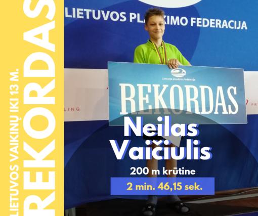 """Du """"Delfino"""" plaukikai pagerino kelis Lietuvos rekordus"""