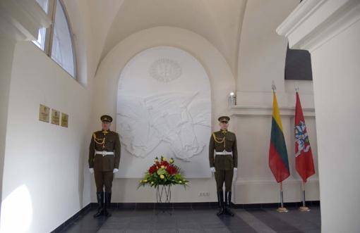 Šv. Ignoto bažnyčioje atidengtas bareljefas žuvusiems Lietuvos kariams