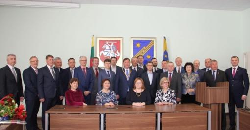 Prisiekė naujos tarybos nariai ir meras Kęstutis Vaitukaitis
