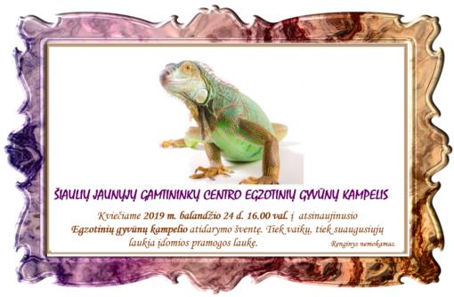 Atidaromas Šiaulių jaunųjų gamtininkų centro Egzotinių gyvūnų kampelis