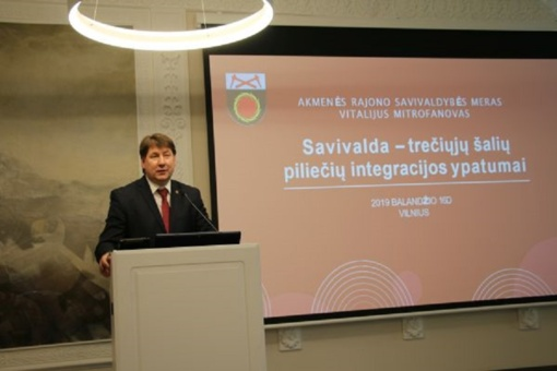 Savivaldybės meras pasisakė užsieniečių integracijos klausimais