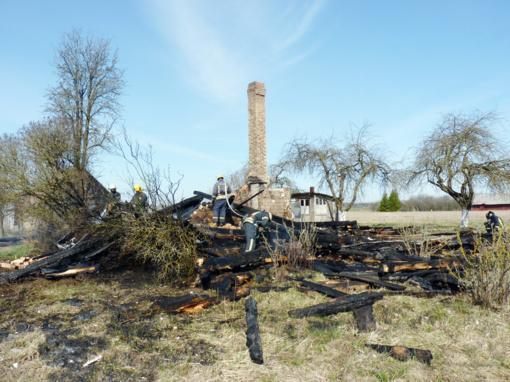 Sudegė namas, šeimininkas ligoninėje