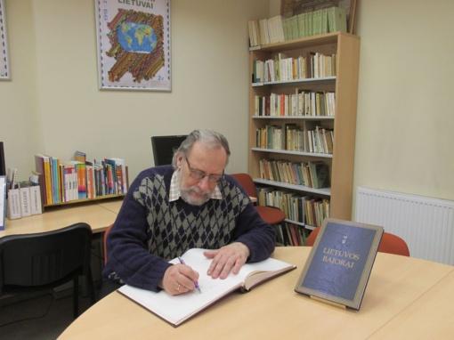 Padėkos žodis bibliotekos bičiuliui Nacionalinės Lietuvos bibliotekų savaitės proga
