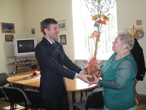 Kazlų Rūdos negaliųjų draugijos pirmininkė pasveikinta Jubiliejaus proga