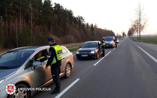 Panevėžio apskrityje pareigūnai tikrino vairuotojų blaivumą