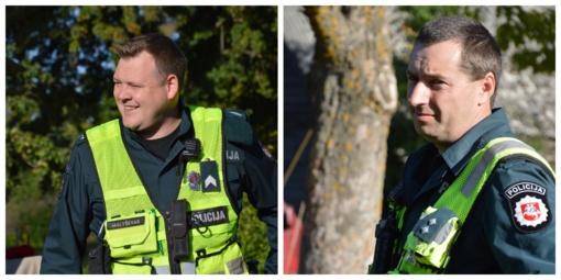 Užklupus negandai, gelbsti  policijos patrulis