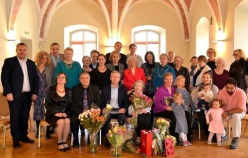 Pasveikinta šimto metų sulaukusi Elena Baltrušaitienė