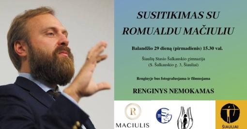 Susitikimas su Romualdu Mačiuliu Šiauliuose