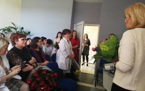 Gražiausios gėlės gydytojai G. Bagdonienei
