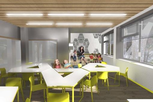 Bus atnaujintos Mickūnų gimnazijos edukacinės erdvės