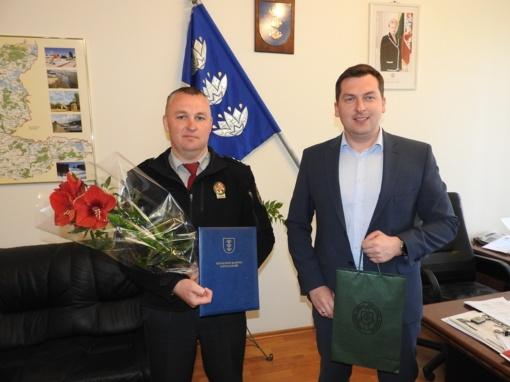 Pasveikintas Ignalinos pasienio rinktinės vadas