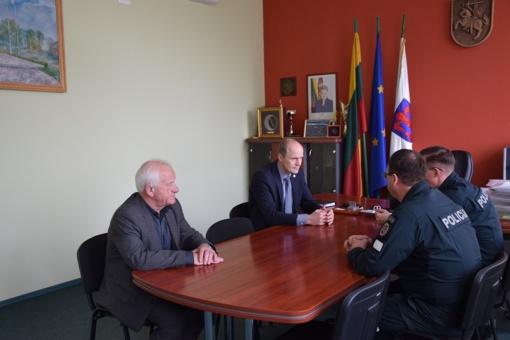 Savivaldybėje lankėsi policijos vadovai