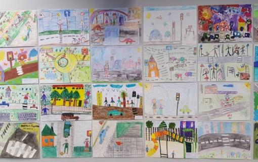 """Apdovanoti vaikų piešinių konkurso """"Saugus miestas vaiko akimis"""" laureatai"""