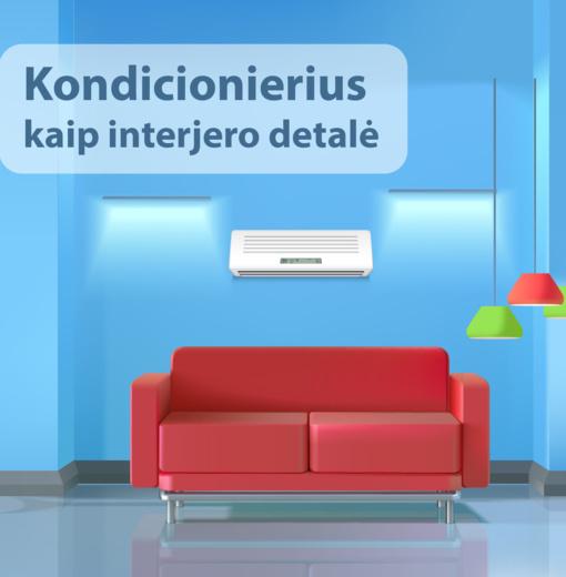 Kondicionierius kaip interjero detalė