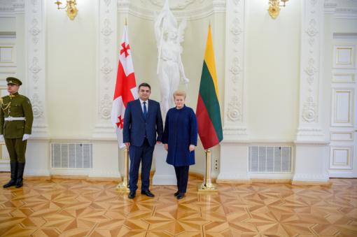 Prezidentė priėmė Sakartvelo ambasadoriaus skiriamuosius raštus