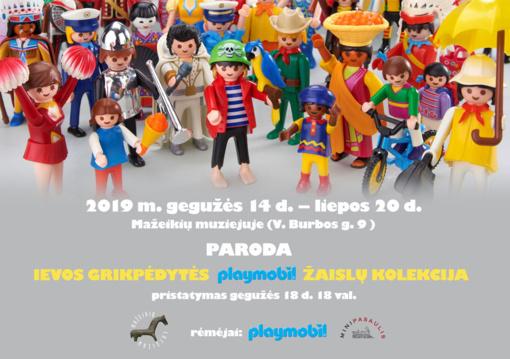 """""""Playmobil"""" žaislų kolekcijos paroda"""
