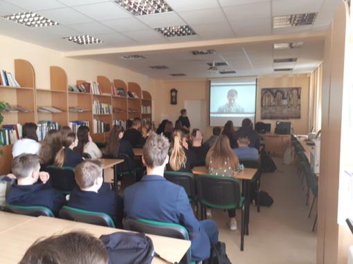 """Druskininkų savivaldybėje vyko mokinių susitikimas su """"Caritas"""" atstove"""