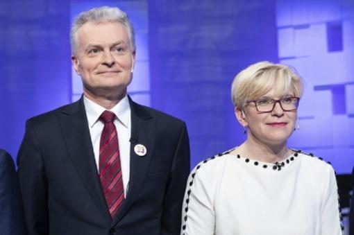 Antrajame prezidento rinkimų ture kausis I. Šimonytė ir G. Nausėda