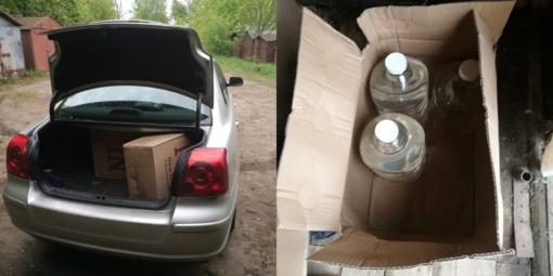 Kauniečio garažuose ir namuose Pagėgių pasieniečiai aptiko kontrabandos sandėlius