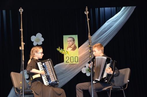 Jaunieji Šalčininkų muzikantai grojo savo globėjo garbei