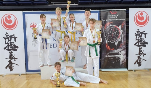 Puikus kuršėniškių pasirodymas Lietuvos vaikų kiokušin karatė čempionate