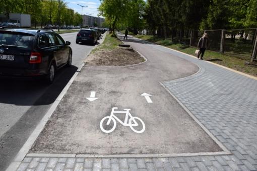 Jau galime išbandyti naują dviračių taką!