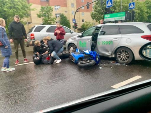 Kaune per eismo įvykius nukentėjo du motociklininkai