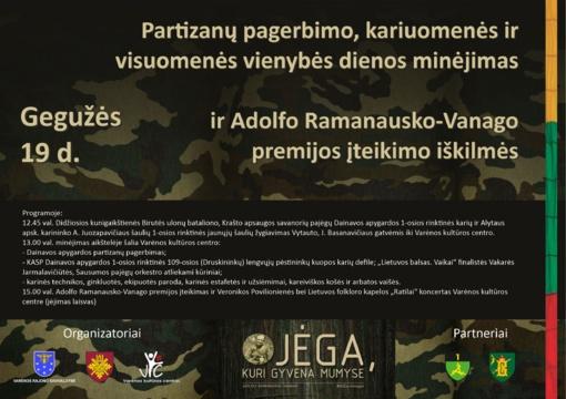 Prasmingas partizanų atminimo renginys – jau šį sekmadienį Varėnoje!