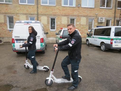 Joniškio policijos pareigūnai patruliavimui bei viešiems renginiams naudos ir paspirtukus