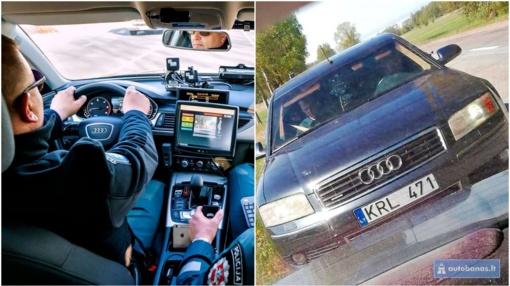 """Atskleidė nežymėtą policijos automobilį – patruliuoja nematyta """"Audi A8"""""""