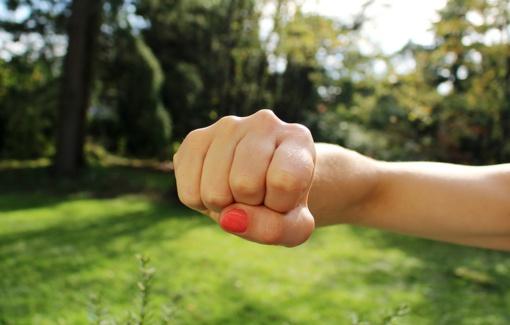 Moterys santykius aiškinosi kumščiais