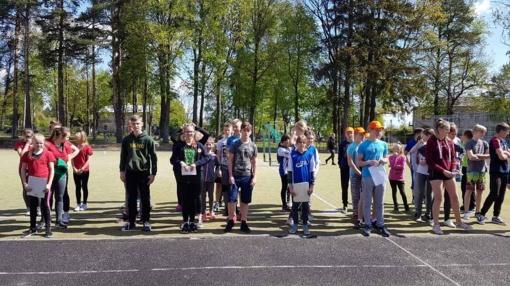 Pagėgių savivaldybės bendrojo ugdymo mokyklų žaidynių lengvosios atletikos 4-kovės varžybos