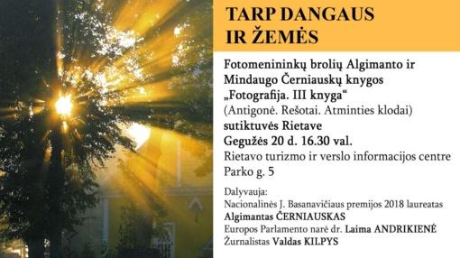 """Fotomenininkų brolių Algimanto ir Mindaugo Černiauskų knygos """"Fotografija. III knyga"""" sutiktuvės"""