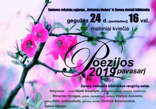 """Kviečia """"Poezijos pavasaris 2019"""""""