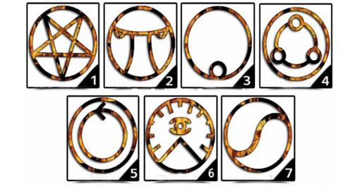 Pasirinkite vieną simbolį, ir sužinokite savo didžiausią nuodėmę!