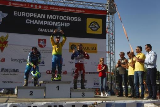 Europos motokroso čempionate lietuviai lipo ant podiumo