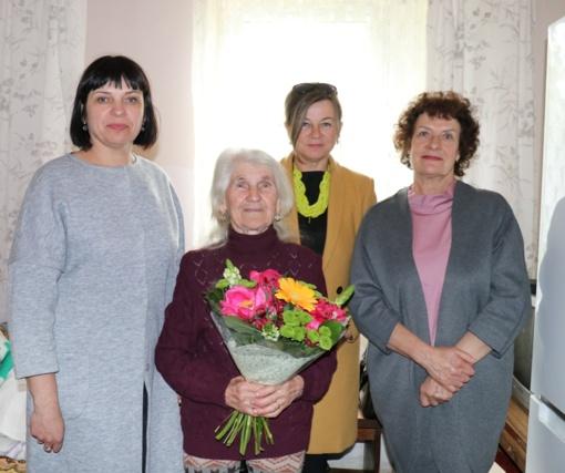 90-ojo jubiliejaus proga pasveikinta priekuliškė A. Gudauskienė