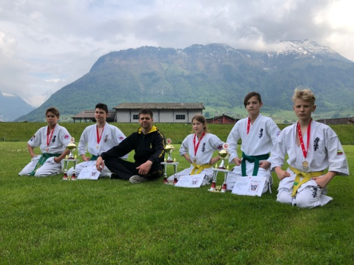 """Pergalės """"Swiss-open 2019"""" tarptautiniame kiokušin karatė turnyre"""