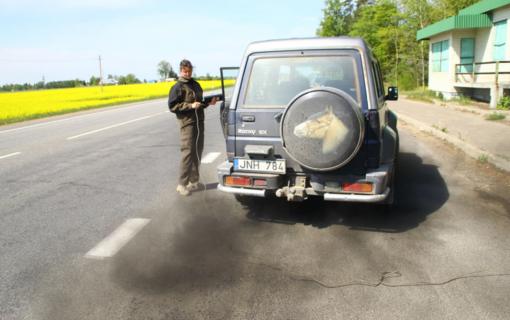 Panevėžio rajone atlikti automobilių išmetamųjų dujų kokybės matavimai