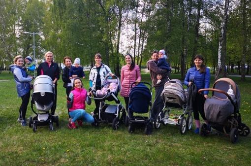 Treniruotės mamytėms su kūdikiais vežimėliuose