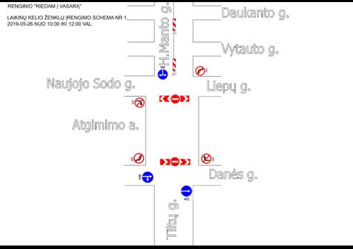 Savaitgalį keisis eismo organizavimo tvarka