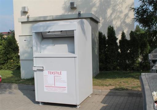 Tauragėje pastatyti tekstilės atliekų konteineriai